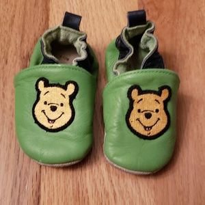 Winnie the Pooh Leather Baby Moccasins